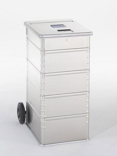 Contenedor de Aluminio de 240L con cerradura de seguridad de DESTRUDATA Ibérica