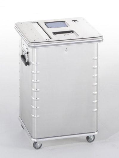 Contenedor de Aluminio de 70L con cerradura de seguridad de DESTRUDATA Ibérica